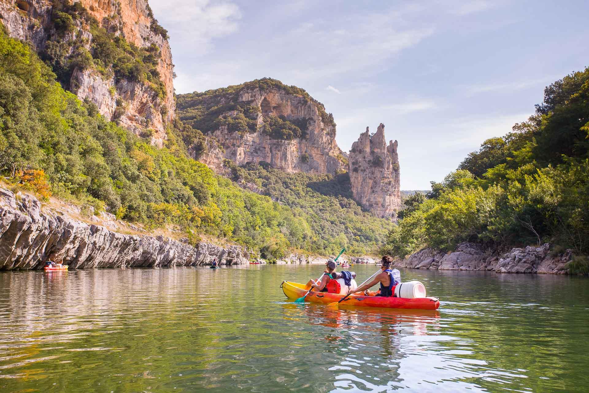 2 jours en Canoë sur l'Ardèche avec bivouac